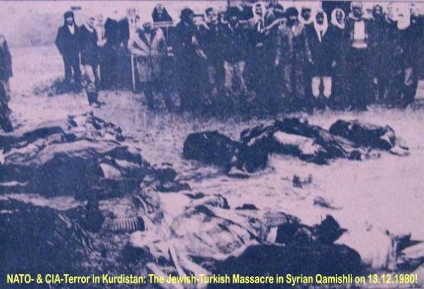 NATO massacre in Syrian Kurdistan: German-Turkish CIA terror given refugees in Qamishli 1980th